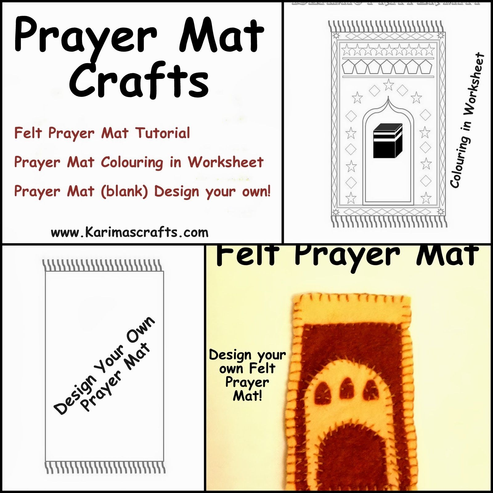 Prayer Mat Crafts Ramadan Islamic Muslim Karimas Crafts