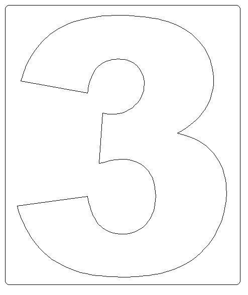 Numero 3 Dibujos Para Colorear