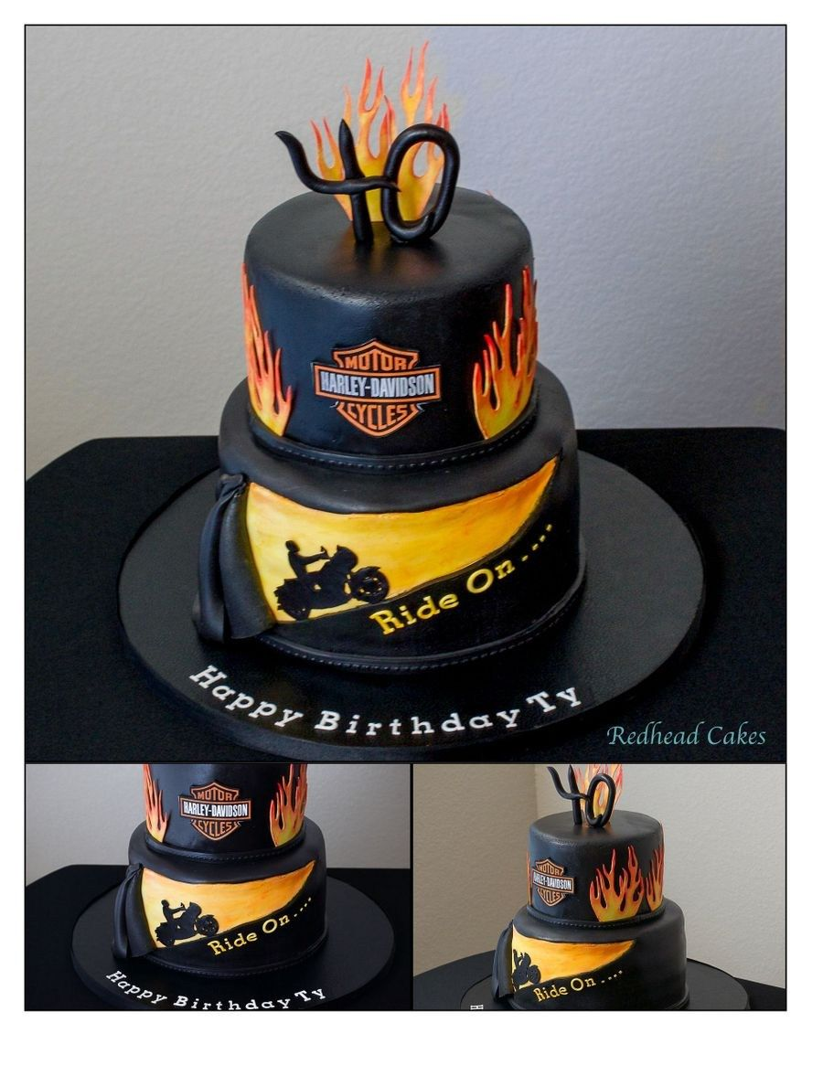 harley davidson cakes images