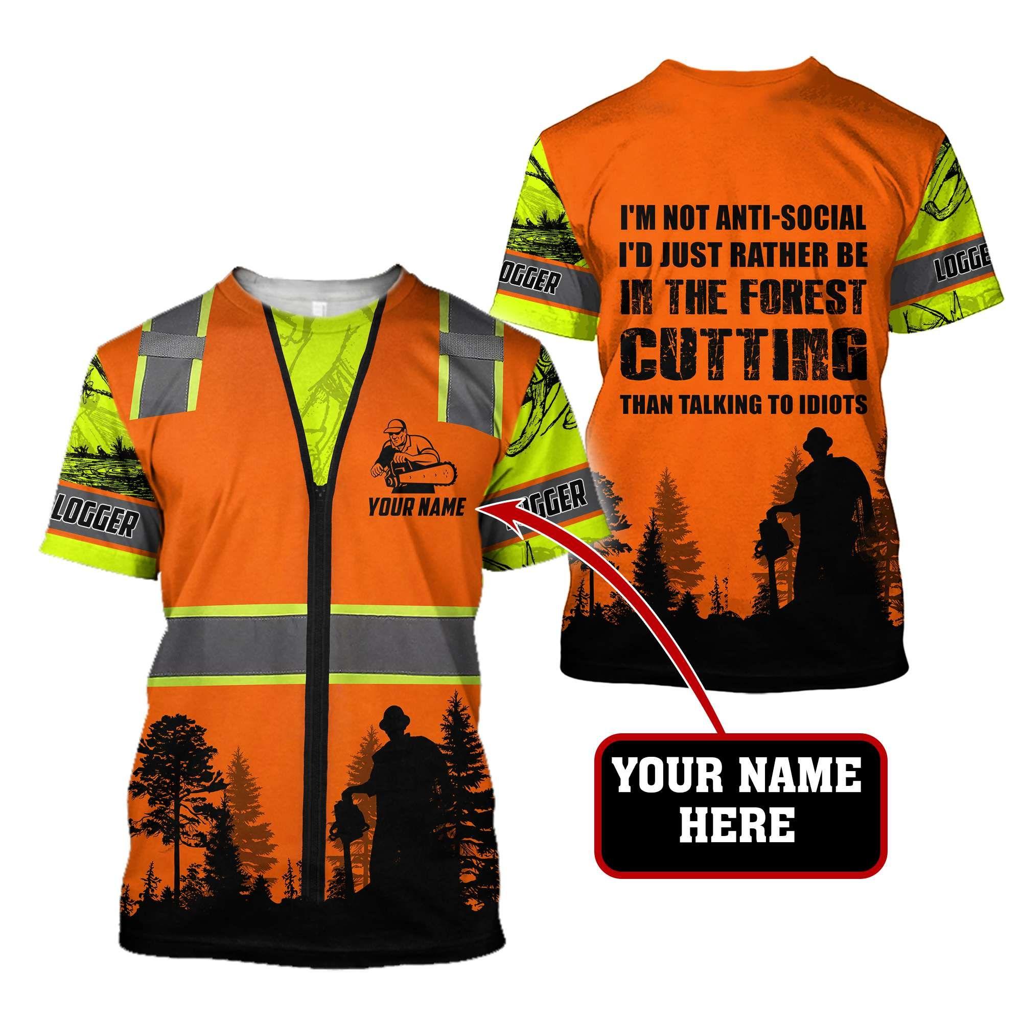Logger Social Idiot 3D Full Printing - T-Shirt / XXL