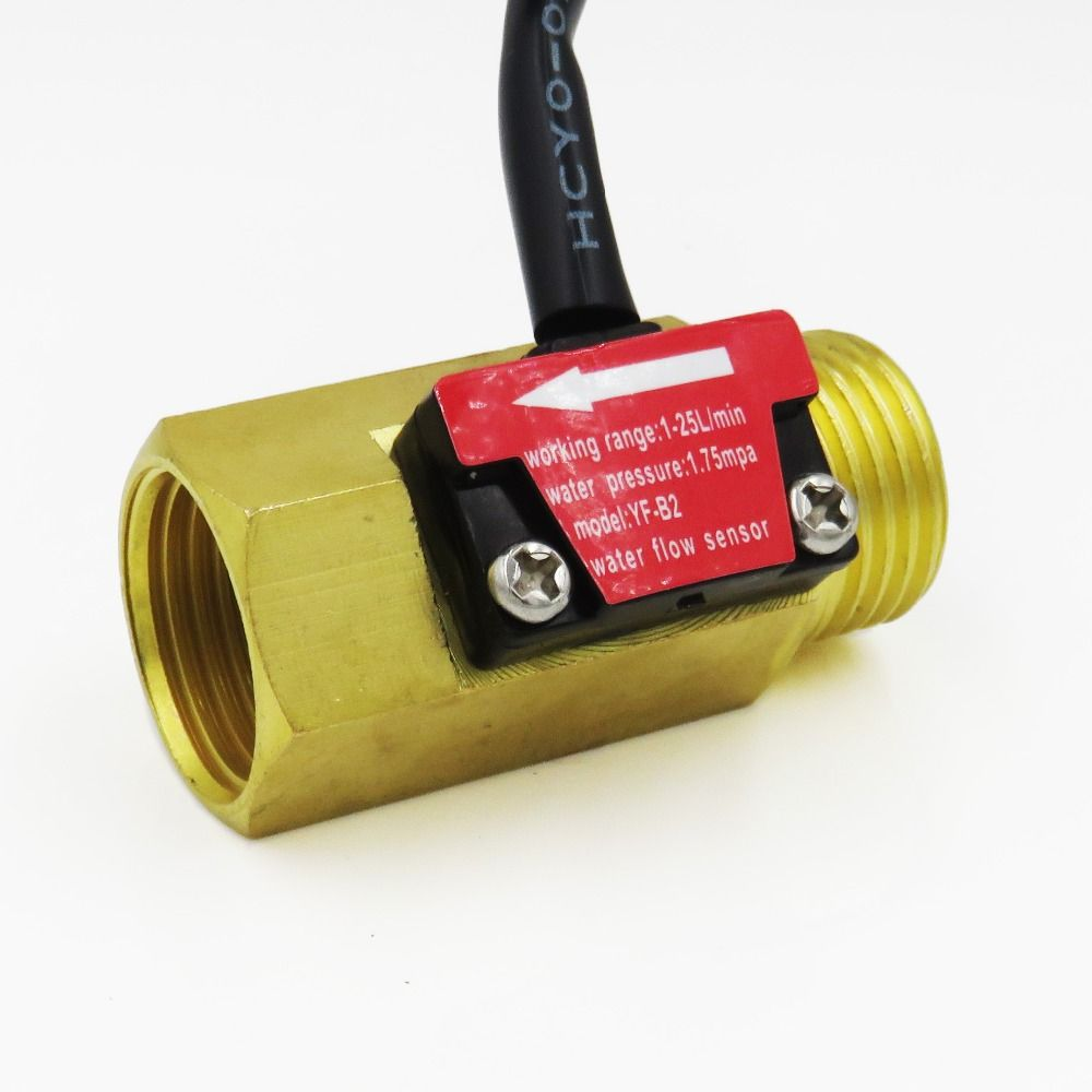 Yf B2 G1 2 Dn15 Pure Brass Water Flow Sensor Hall Flow Rate Counter Indicator 1 25l Min Water Flow Sensor Pure Products
