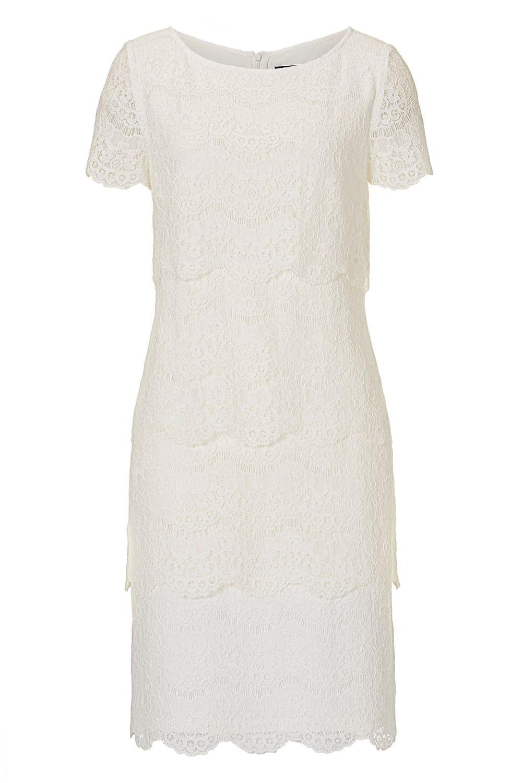 weißes Cocktailkleid von Vera Mont, auch ideal als kurzes Brautkleid ...