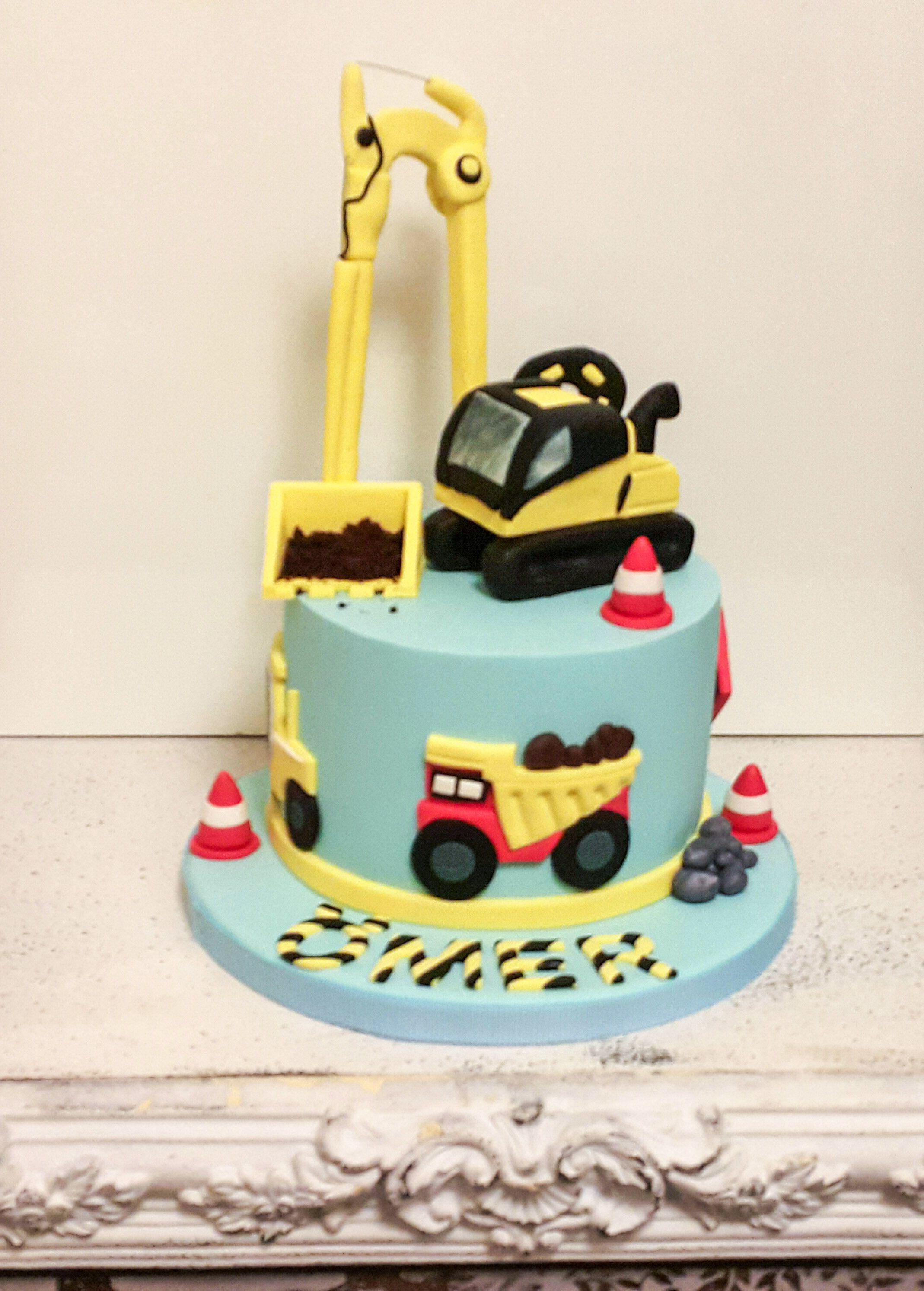 Kekperest kamyon ocuk pastas doumgn sugar art cake topper