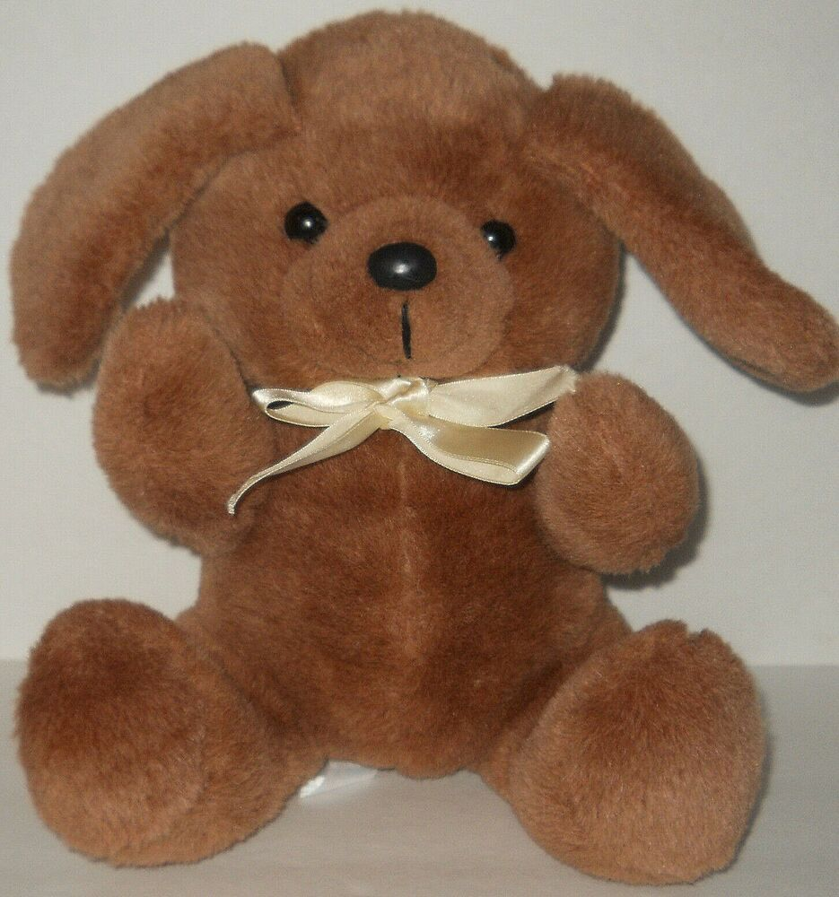Vtg Brown Hound Dog Plush Soft Toy Long Eared Stuffed Beige Bow 10 Vintage Mty Plush Brown Dog Soft Stuffed Toy Beigebo Soft Toy Dog Puppy Soft Toy Hound Dog [ 1000 x 935 Pixel ]