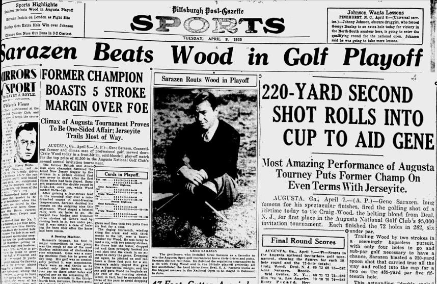 "On this day, In 1935, Gene Sarazen sunk the ""Shot Heard"