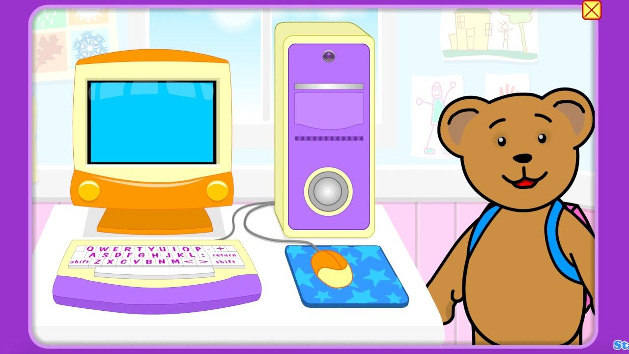 Backpack Bear computer Starfall app kids songs Kids