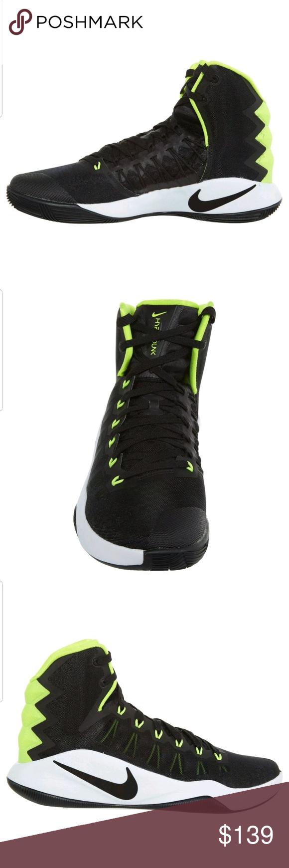 ff187efb442c Nike Hyperdunk 2016 Mens Nike Hyperdunk 2016 Mens 844359-007 Black White  Volt Basketball Shoes Size 10.5 Nike Shoes Athletic Shoes