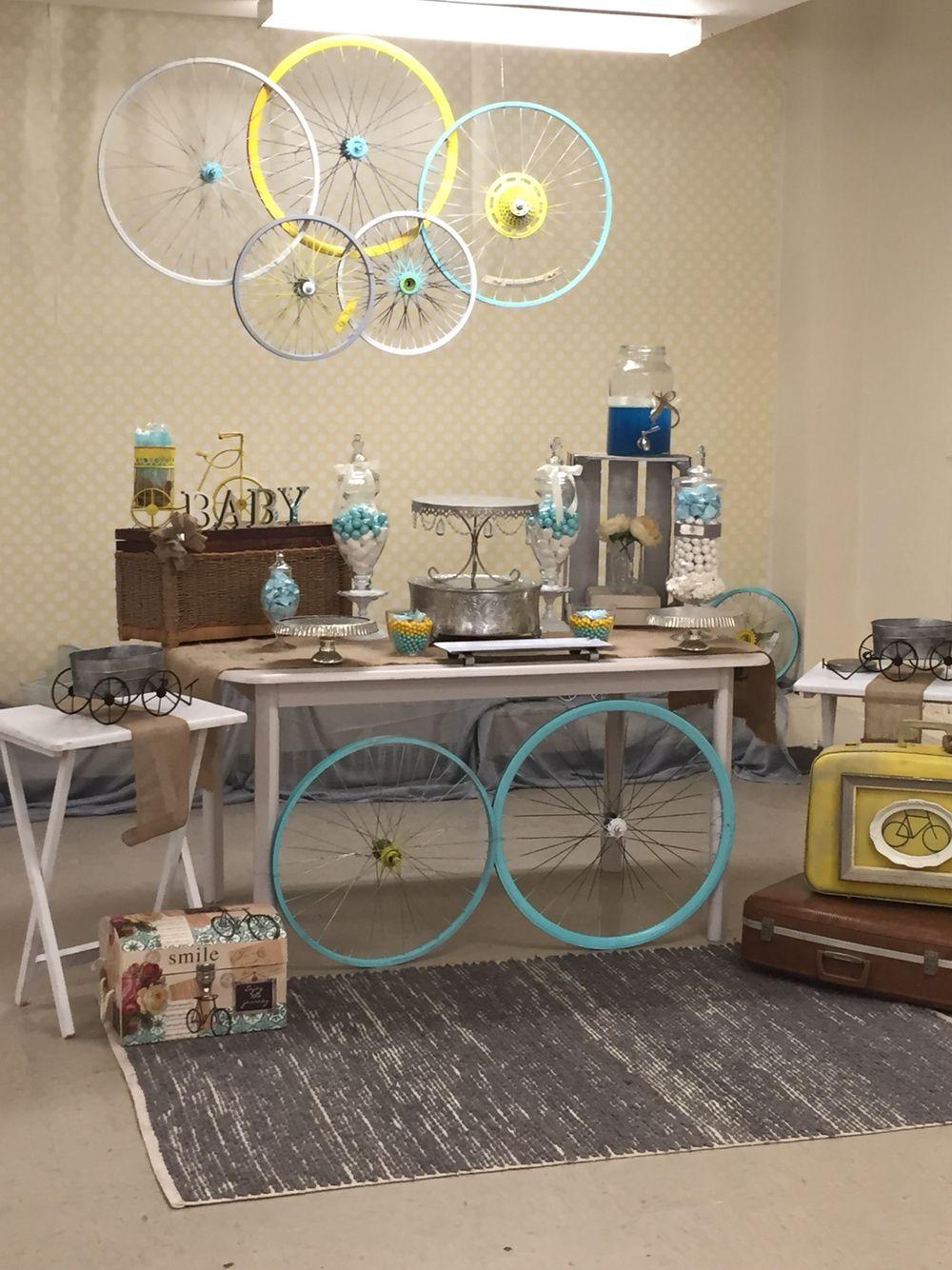 Baby Boy Vintage Bicycle Shower R Amp O Decor Pinterest