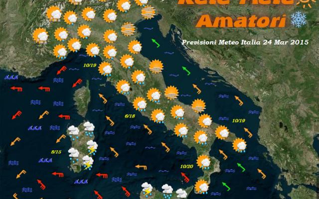 Previsioni Meteo Italia per il 24 Marzo 2015 #previsioni #meteo #italia #maltempo