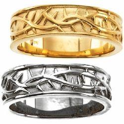 Crown Of Thorns Mens Wedding Ring