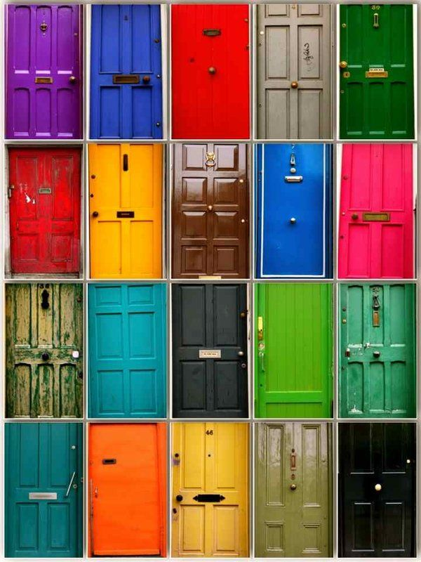 Colourful Doors Of Dublin Beautiful Ireland The Luck