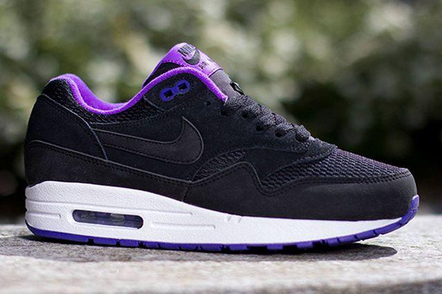 Nike Air Max 1 Essential Black Hyper Grape Sneaker Freaker Trendy Womens Sneakers Nike Air Max Nike Free Shoes