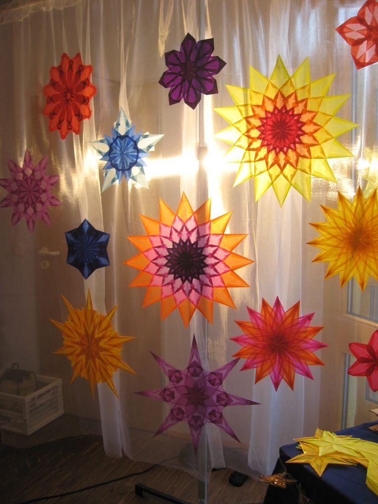 transparentsterne stars origami pinterest sterne weihnachten und basteln. Black Bedroom Furniture Sets. Home Design Ideas