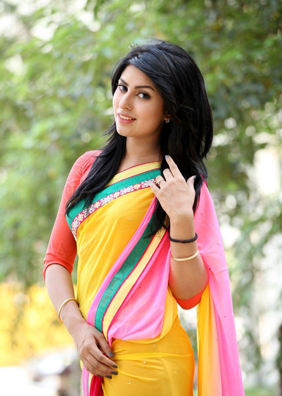Anika Kabir Shokh in Yellow Saree. | Bengali Beauty ...