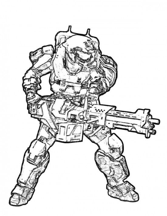 Halo Coloring Pages Picture 15 | halo free coloring pages | Pinterest