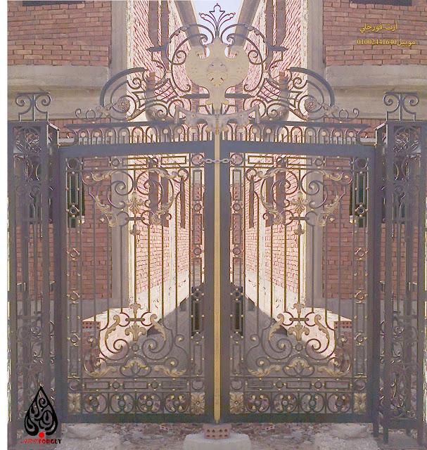 بوابات حديد Classic House Iron Gates Decor