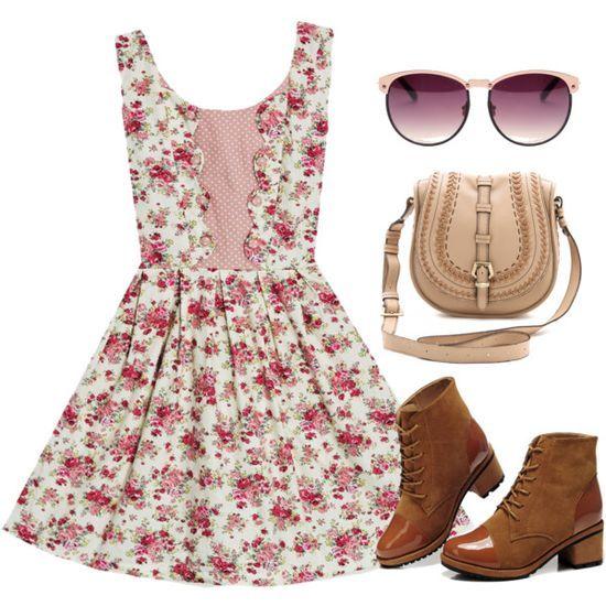 4f4ea4c2cebd vestidos casuales floreados - Buscar con Google   Vestidos floreados ...