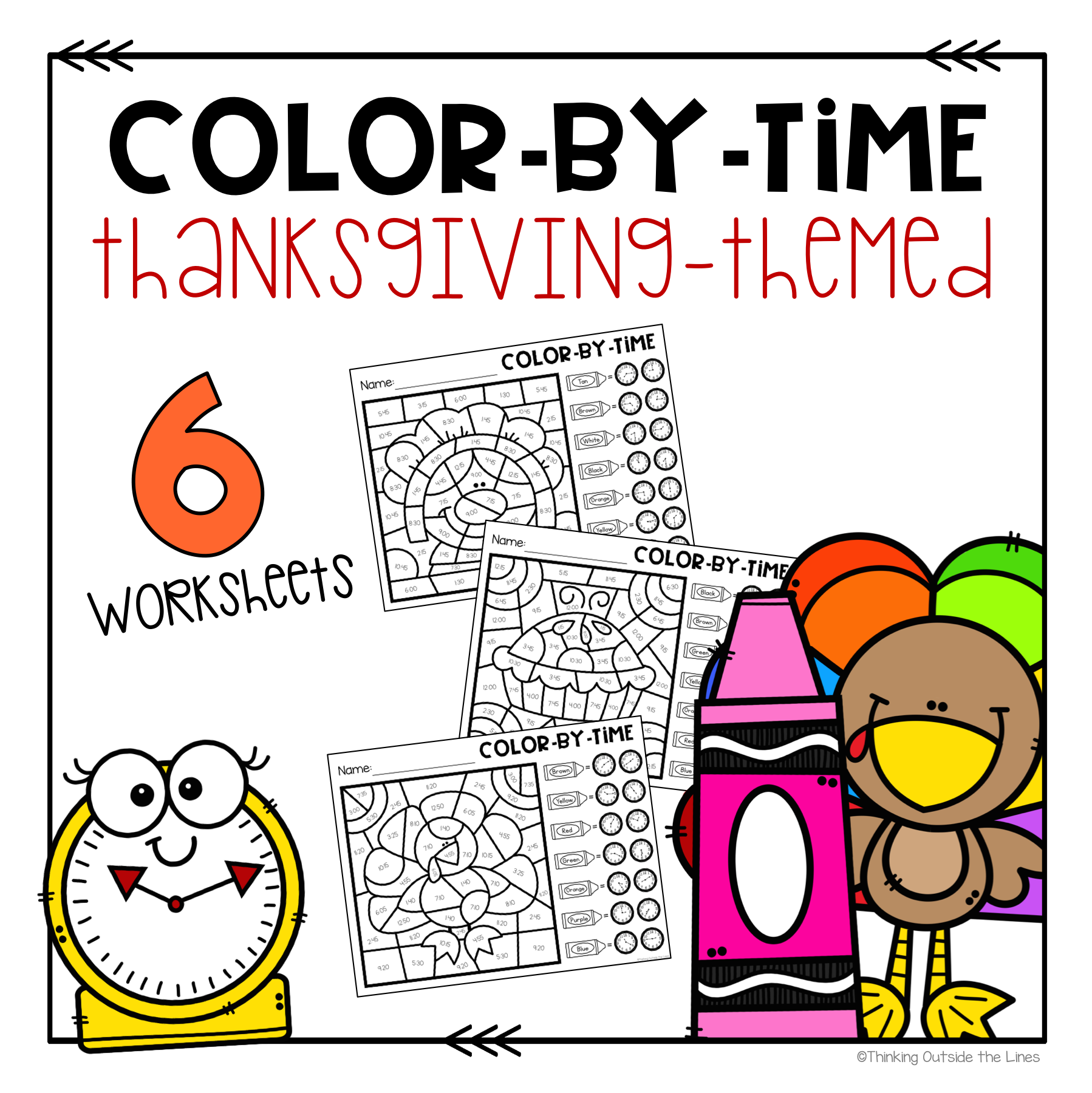 Thanksgiving Color By Time In