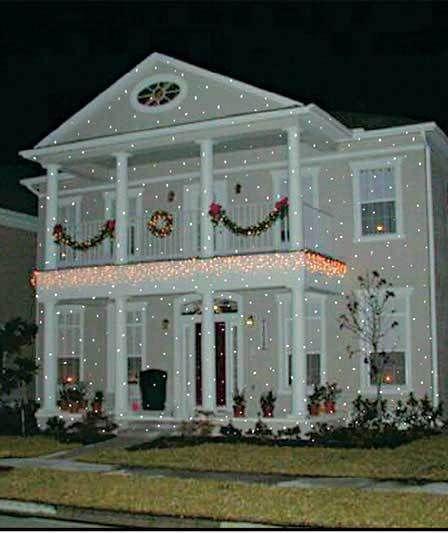 Holiday Indoor Outdoor Christmas Light Show Lamp Flurries Snow