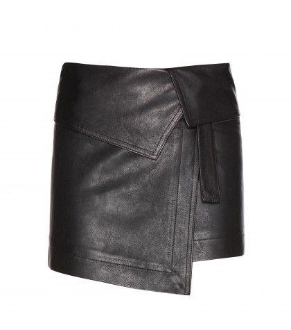 #isabelmarant - hutt leather skirt