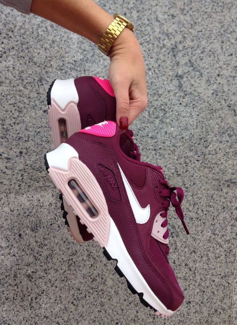 nouvelle arrivee f75f4 f90a1 Femme Nike Air Max 90 Villain Rouge Champagne Rose ...