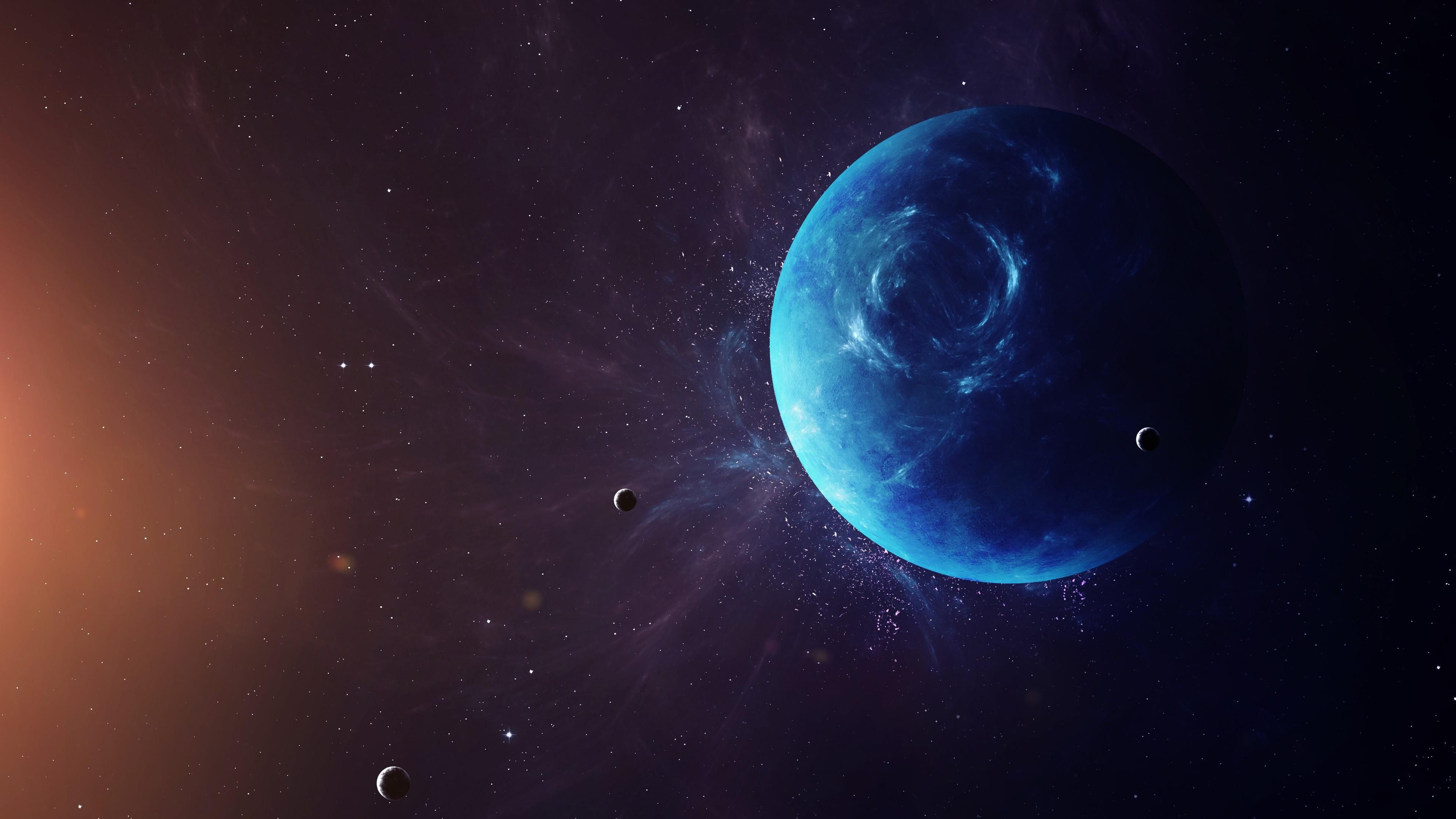 Neptune Planet Moon Space Solar System 4k Wallpaper Hdwallpaper Desktop Solar System Wallpaper Nebula Wallpaper Planets