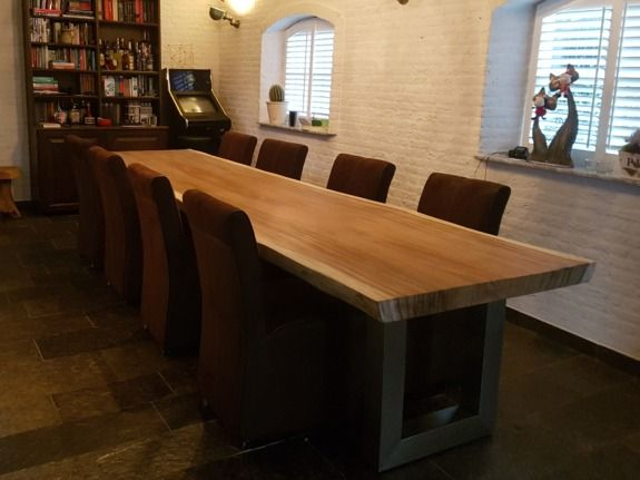 Boomstamtafels in alle afmetingen met meer dan 50 soorten tafelpoten ...