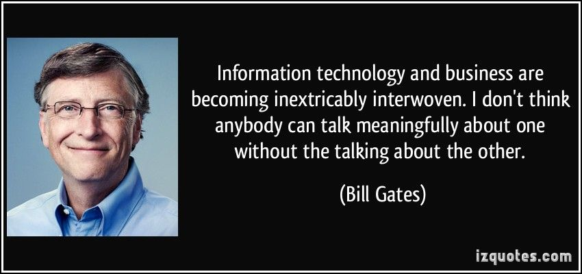 Informationtechnology And Business Are Becoming Inextricably