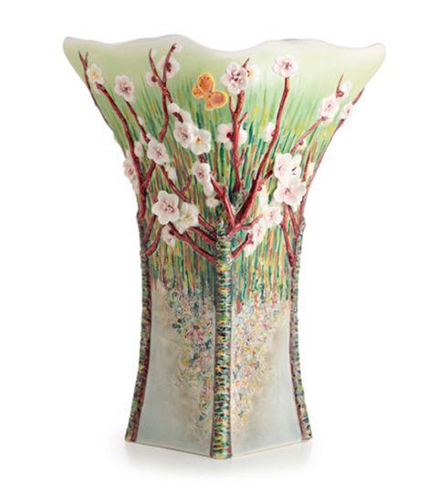 Franz Porcelain Van Gogh Almond Tree Blossom Vase