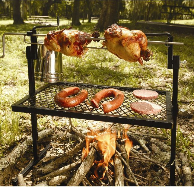 Rotisserie Barbecue Grill Outdoor Chicken Cooking Camping