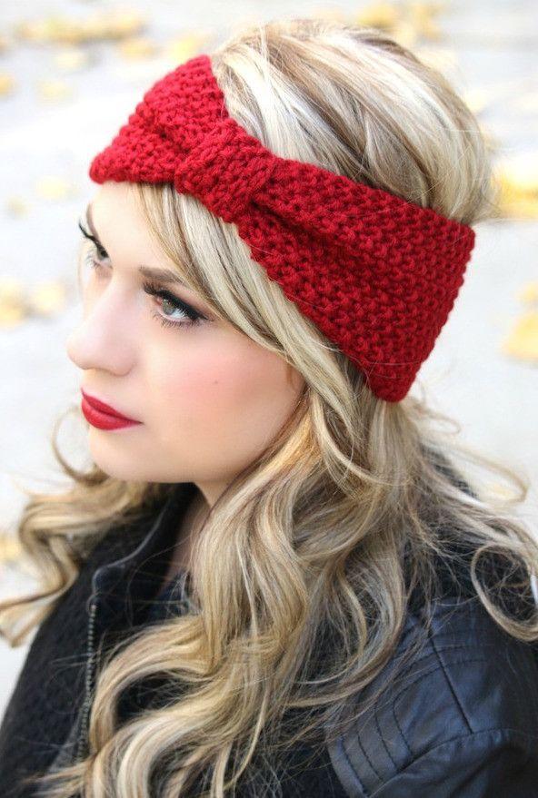 Head Warmer Headband : warmer, headband, Knotted, Crochet, Warmer, Hats,, Headband,