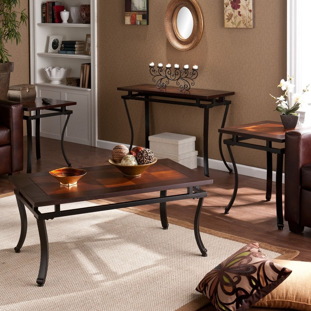 Coffee End Table Cocktail Sofa Collection Set Of 4 Furniture Espresso Finish Harperblvd Transitional C Living Room Table Sets Coffee Table Living Room Table [ 1000 x 1000 Pixel ]
