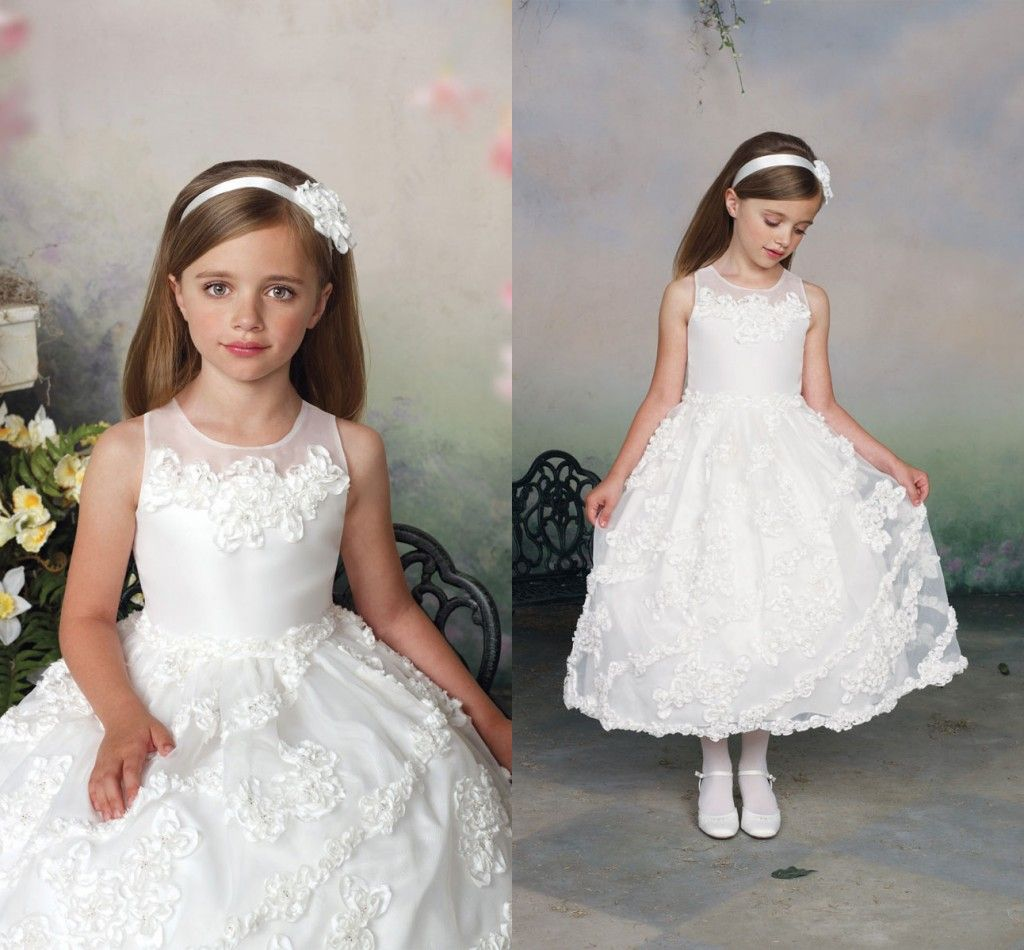 Kids party wear dresses for girls vintage flower girl dresses