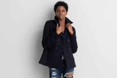 aeo wool peacoatamerican eagle outfitters  cool
