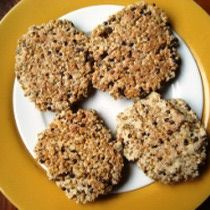 Millet patties - whole grain vegetarian and vegan with gluten-free option