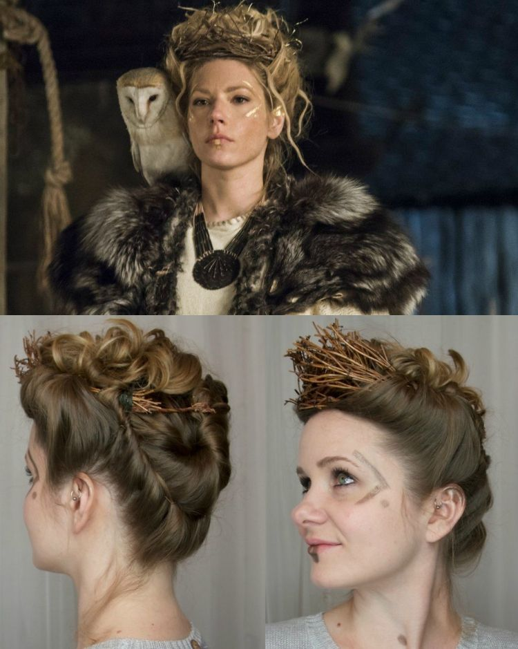 Wikinger Frisuren Frauen Halloween Cosplay Lagertha Frisuren