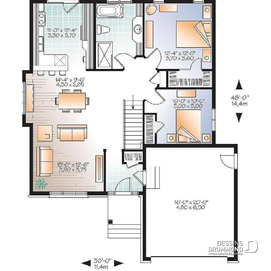 42 Plan Maison Qu Bec Dessins Drummond Ranch Style House Plans House Plans Country Style House Plans