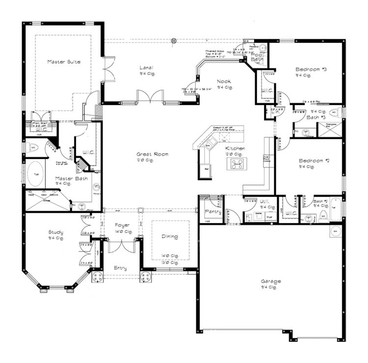 Tradewind1 Floor Jpg 750 739 4 Bedroom House Plans Open House Plans House Plans One Story