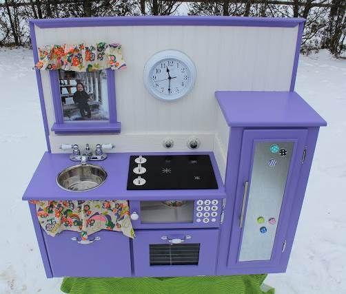 Purple Diy Play Kitchen