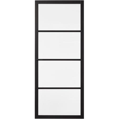 Binnendeur Met Glas Opdek.Cando Luxe Binnendeur Bradford Blank Glas 4 Ruits Opdek
