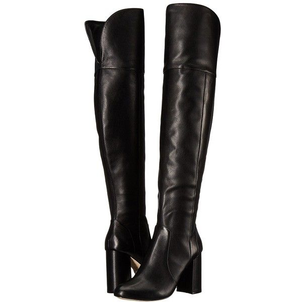 4a6274dc7 Joie Lalana (Black Vachetta) Women's Boots ($498) ❤ liked on Polyvore  featuring shoes, boots, over-the-knee boots, knee high boots, over the knee  thigh ...