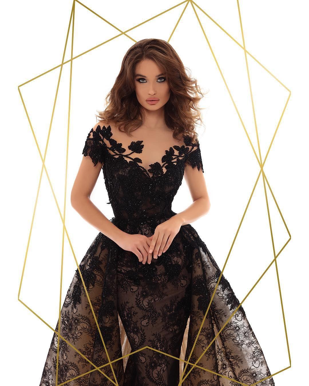 Tarik Ediz On Instagram Get Two Dresses In One With This Glamorous Black Gown Dress Code Romeo Juliet 93627 Tarikediz Tarikedizevening Eveningdre [ 1350 x 1080 Pixel ]