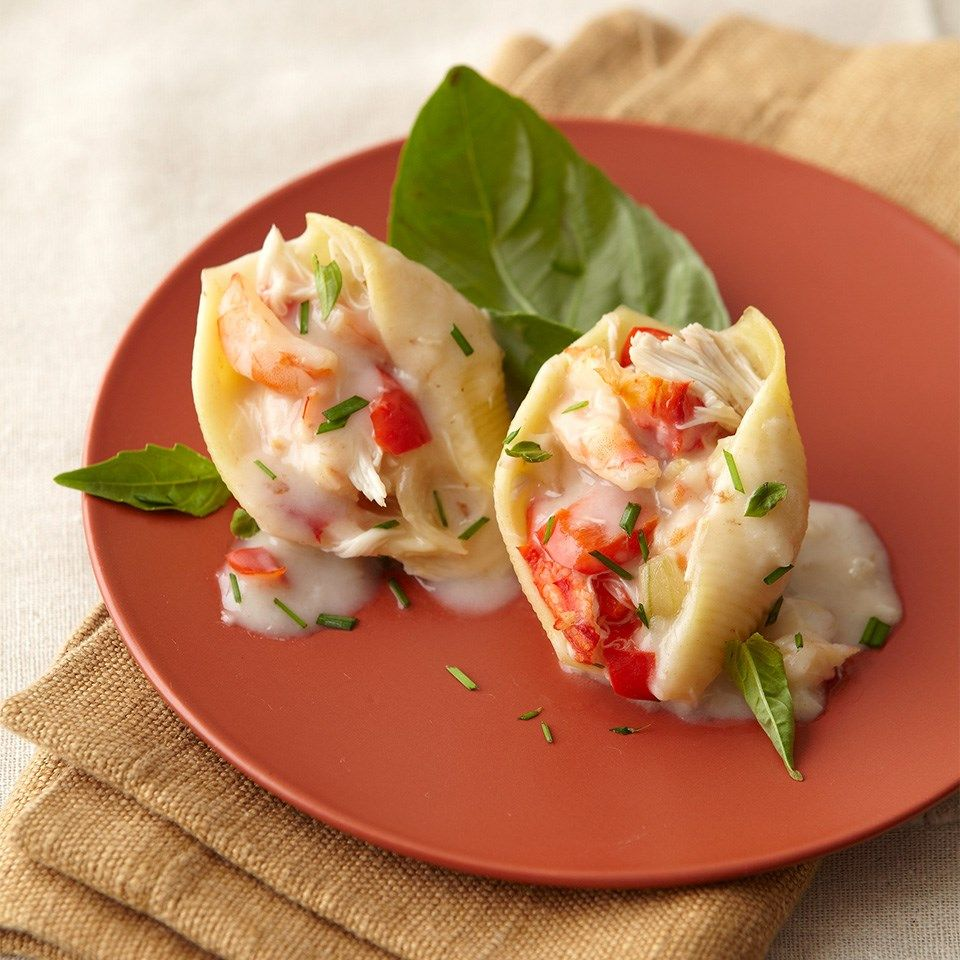 Shrimp Stuffed Pasta Shells Recipe Recipes Shell Pasta Recipes Cooking Recipes