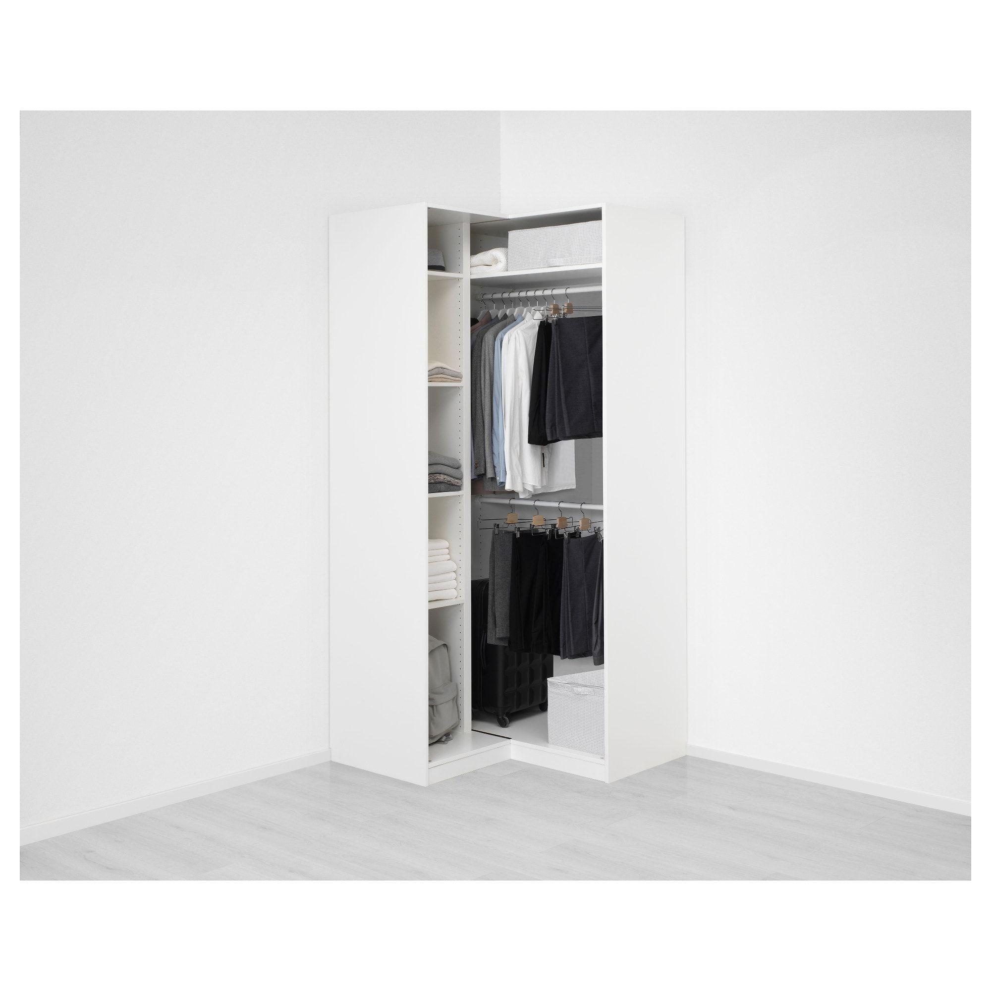 Pax Corner Wardrobe White Grimo White 43 1 2 43 1 2x93 1 8