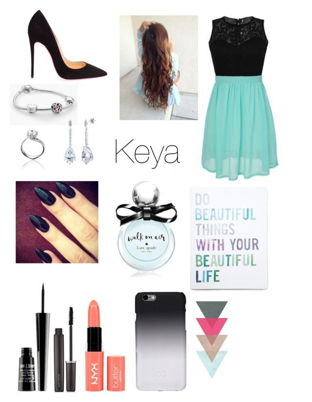 """""""Untitled #37"""" by k3011e ❤ liked on Polyvore featuring Pandora, Tomasz Donocik, BERRICLE, Lord & Berry, Laura Mercier, NYX, Christian Louboutin, C6, Kate Spade and Forever 21"""