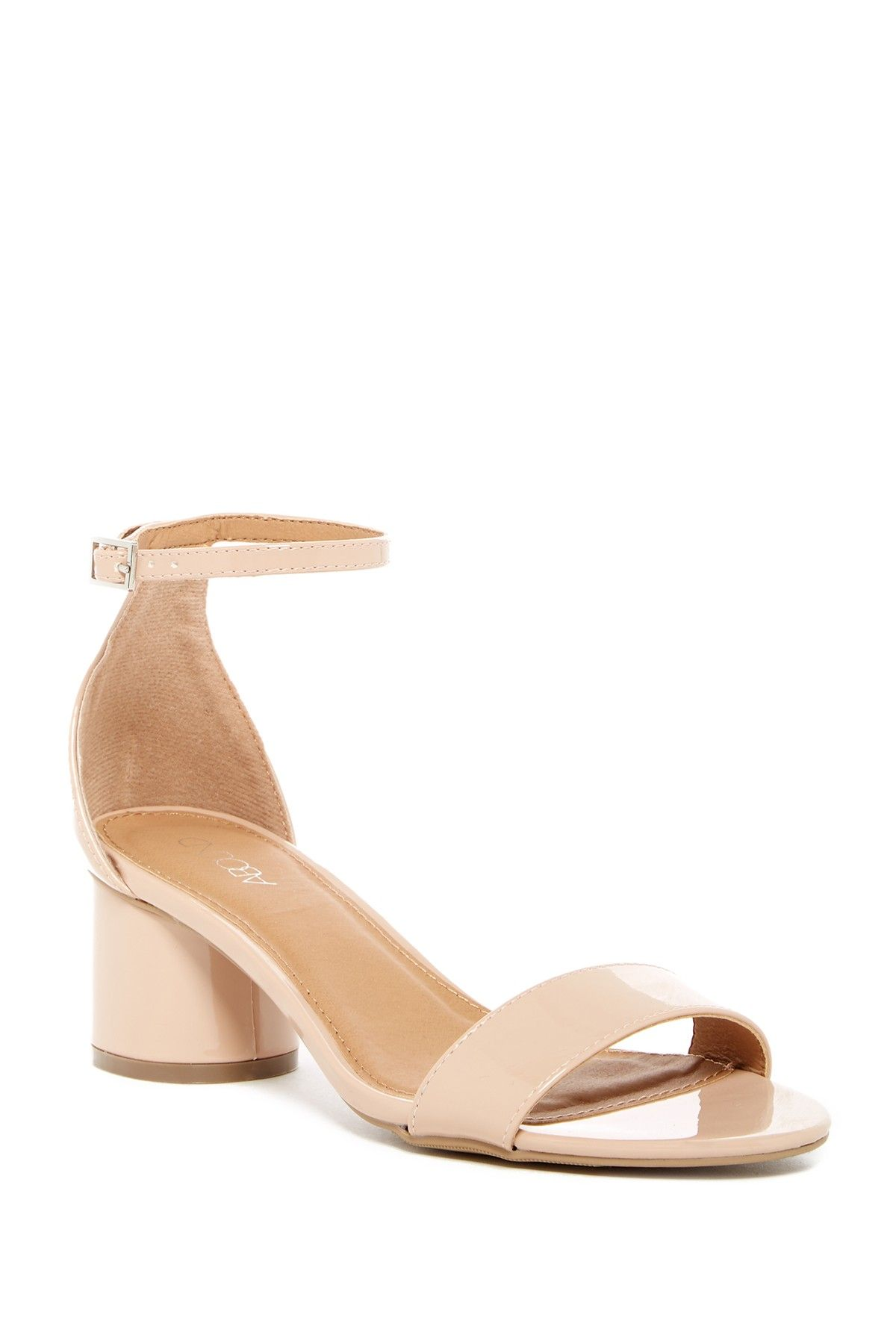 45205431a Emina Rounded Block Heel Sandal - Wide Width Availabale