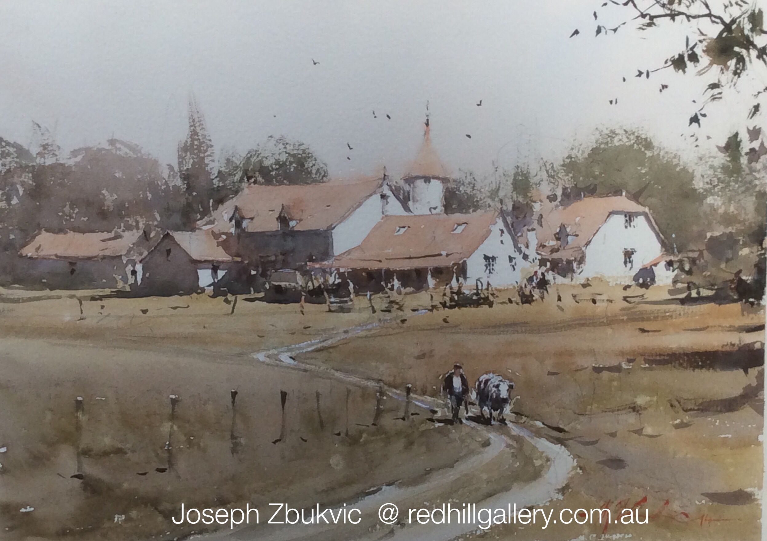 Joseph Zbukvic Red Hill Gallery Brisbane Watercolour Painting