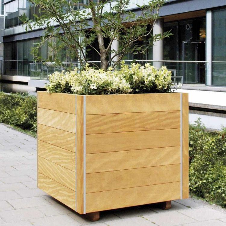 Hochbeet Balkon Bauen Bepflanzen Holz Baum Blumentopf Balkon