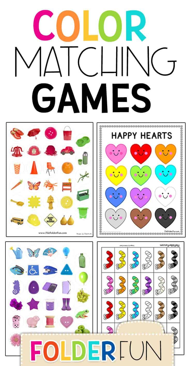 Free Color Matching Games for kids. Free matching games