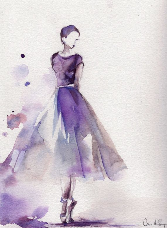 Ballerina Original Watercolor Painting Ballet Dance Watercolor Art